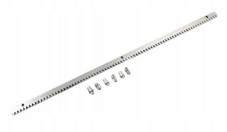 Listwa zębata metalowa komple tuleji 1000x30x8mm