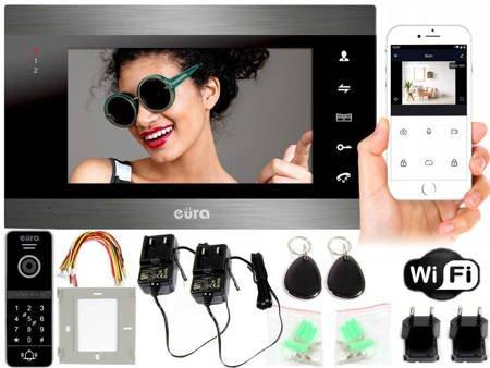 Wideodomofon EURA 7'' RFID szyfrator APLIKACJA